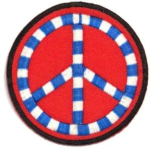Accessories - Peace sign patch iron on cute hippie retro DIY